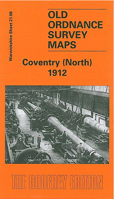 Old Ordnance Survey Map Coventry North 1912 Foleshill Rd Sandy Lane Stoke Heath