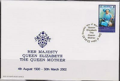 GB - ISLE of MAN 2002 HM Queen Elizabeth the Queen Mother £3 SG 982 FDC ROYALTY