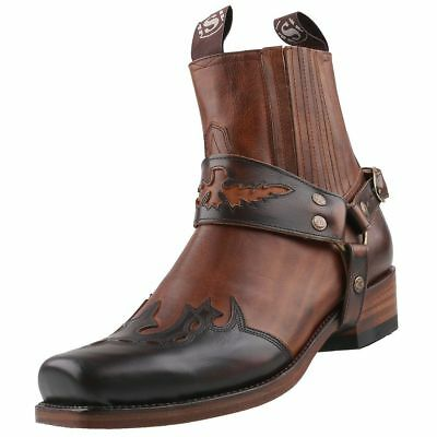 8e40bc56756 SENDRA BOOTS MEN Cowboy Model 2073 All Leather T 7 UK/7.5 US/40 TOP ...