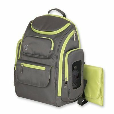 NEW Jeep Organizer Easy Access Back Pack Diaper Bag - Gray/Green