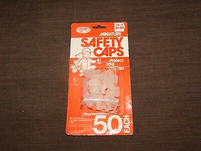 Vintage Made Usa 50 Miniature Child Electrical Outlet Safety Caps Unopened