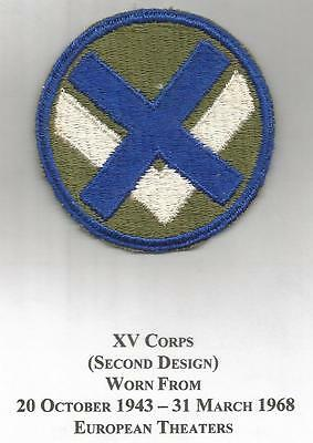 WW 2 US Army 15th Corps Patch Inv# JR311