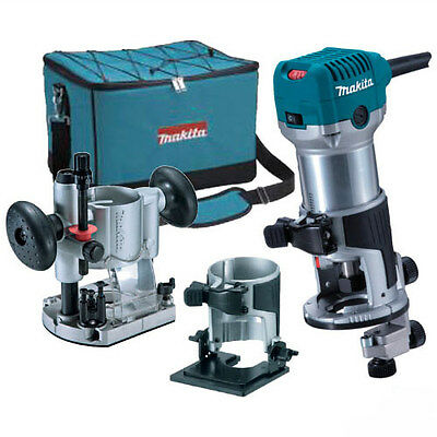 "MAKITA RT0700CX2 1/4"" Shank Router Trimmer Kit"