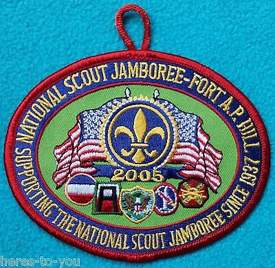 2005 National Scout Jamboree Boy Scout Patch~Fort A.P. Hill~BSA~Supporting 1937