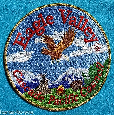 "Eagle Valley Cascade Pacific Council Boy Scout Jacket Patch~6"" Round~CPC BSA"