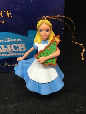 ALICE from ALICE IN WONDERLAND Disney Presidents Edition Grolier Ornament NIB