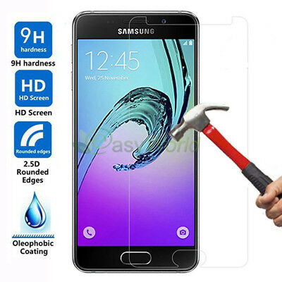 Tempered Glass Cover Screen Protector Film For Samsung Galaxy A5 A7 A3 2017 2016