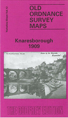 Old Ordnance Survey Map Knaresborough 1909 Tentergate Beech Hill Spital Croft