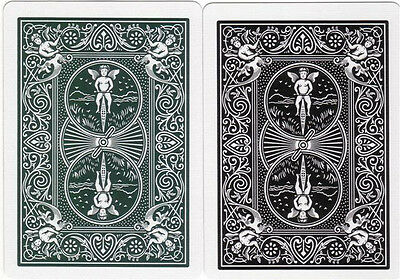 2 OHIO Made BICYCLE  808 Tactical Field  # 535 Playing Card Decks! Green & Black