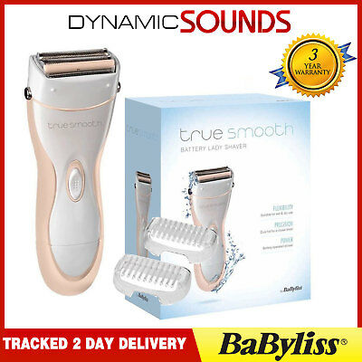 BaByliss 8771BU Ladies Wet & Dry Cordless Battery Lady Shaver Hair Remover