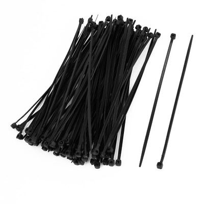100 Pcs 150mm x 2mm Electrical Cable Tie Wrap Nylon Fastening Black