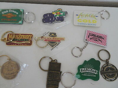 Lot of 10 key chains Las Vegas Casinos  Orleans Main Street Station Fremont