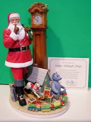LENOX SANTA'S MIDNIGHT MAGIC Musical sculpture NEW in BOX with COA Lynn Bywaters
