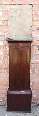 Antique Mahogany Longcase Grandfather Clock TRUNK of CASE ONLY