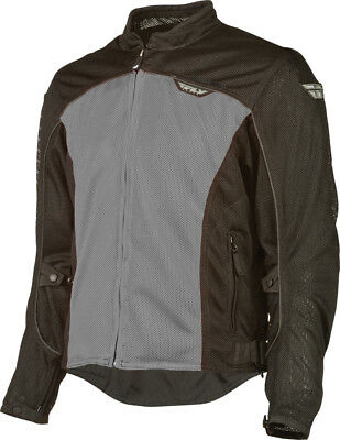 Fly Flux Air Mesh Jacket Silver/Black Adult LG