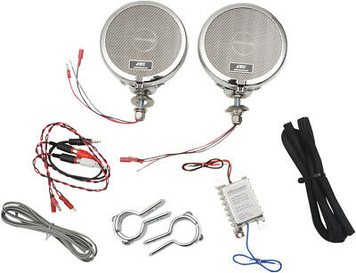 "MH Motorcycle Rumble Road Ultra Amplified Stereo Chrome System For 1 1/4"" Bars"