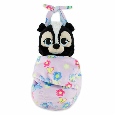 Disney Parks Disney Babies Flower Plush With Blanket Pouch Self-Stick Fastener