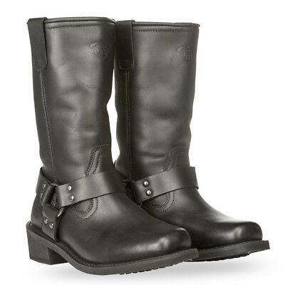 Highway 21 Adult Motorcycle Leather Spark Boots Black Size 7