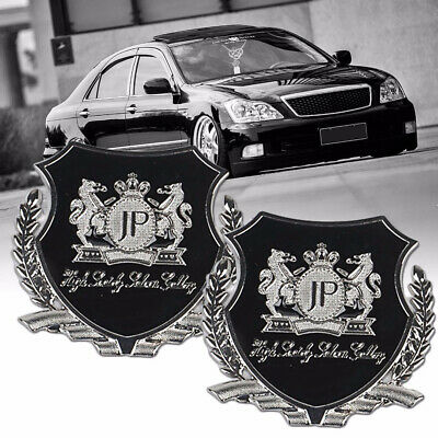 2x Silver JP Junction Produce Logo Car Emblem Badge Sticker for Toyota Honda