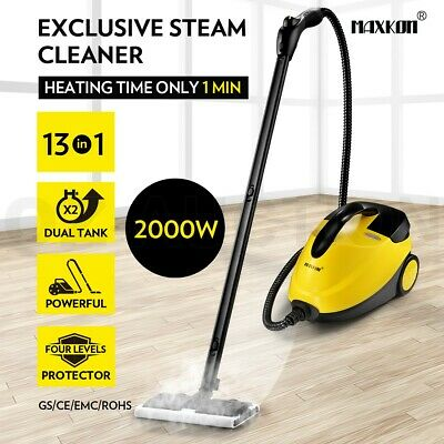 13 in 1 2000W High Pressure Carpet Floor Window Dual Tank Home Steam Cleaner Mop