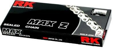 RK Chain 520 MAX-Z RX-Ring Sealed Motorcycle Chain 120 Links Black/Gold