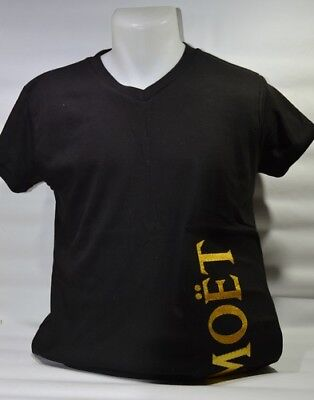 MOET ET CHANDON CHAMPAGNE Tee-shirt lumineux col V mixte NEUF