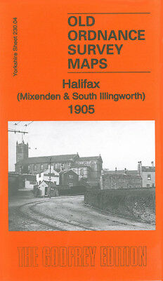 Old Ordnance Survey Map Halifax Mixenden South Illingworth 1905 Ovenden Wheatley