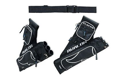 Avalon Archery Classic 3 Tube Quiver Adult Size Right Hand 2 x Pockets D-Loops