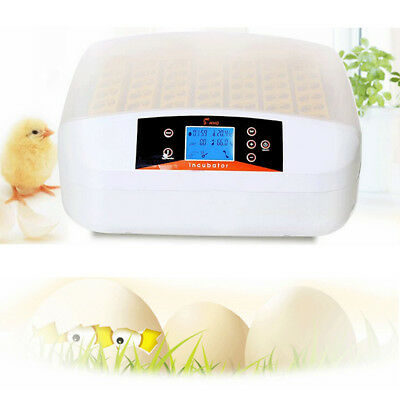 Automatic Digital Egg Incubator 56 Egg Farm Poultry Chicken Duck Hatcher Turning