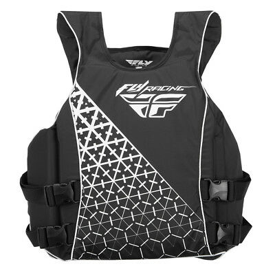 Fly Racing Unisex Adult PWC Pullover Nylon Life Vest Jacket Black/White S-XL