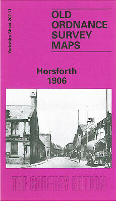 Old Ordnance Survey Map Horsforth 1906 Leeds Town Street Newlay New Road Side