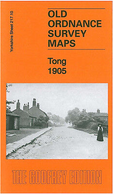 Old Ordnance Survey Map Tong 1905 Leeds Raikes Hall Ryecroft Scholebrook Pudsey