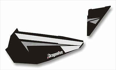 Dragonfire Black Pearl Door Panel Graphics for Polaris RZR XP 1000 07-1107