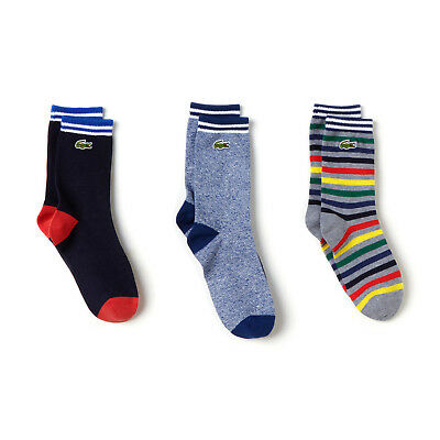 Lacoste Kids RA0094 Three Pack Jersey Socks