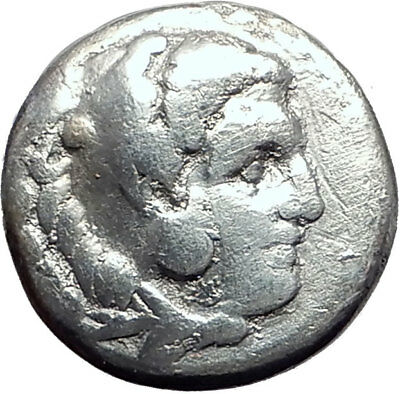 ALEXANDER III the GREAT 323BC Authentic Ancient Silver Greek Coin w Zeus i64827