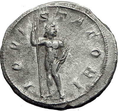 GORDIAN III 241AD Rome Authentic Ancient Silver Roman Coin JUPITER / ZEUS i64825