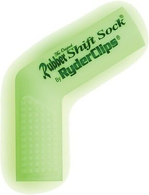Ryder Clips Rubber Motorcycle Shift Sock Shifter Cover Glo White