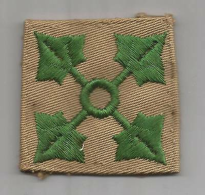 VHTF WW 2 US Army 4th Infantry Division Twill Patch Inv# F021