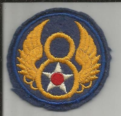 VHTF US Made WW 2 US Army 8th Air Force Wool Off Uniform Patch Inv# K125