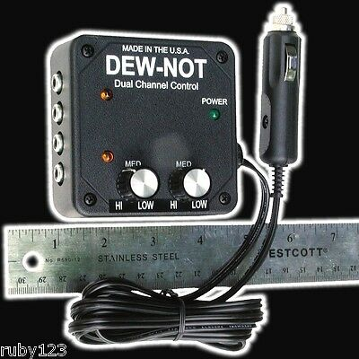 Controller Dual Channel w/splitter for use with dew heater strips for Telescopes