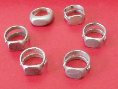 Antique lot of 6 seal rings original Ottoman Middle East Islamic silver rings