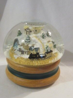 1987 The San Francisco Music Box Co. Christmas Snow Globe With Train
