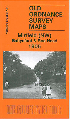 Old Ordnance Survey Map Mirfield Nw Battyeford Roe 1905 Head Water Royd Lane