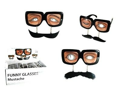 Funny Glasses With Moustache And Eyes Novelty Item Fancy Dress 18/3929