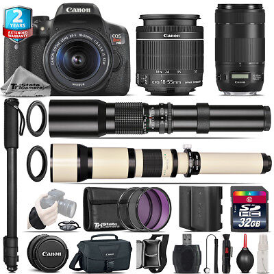 Canon EOS Rebel T6i + 18-55mm IS STM + 70-300mm IS II USM + 500-1300mm -32GB Kit