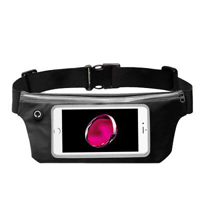 Waist Band Fanny Pack Phone Holder Black fits LG Stylo 3,Stylus 3
