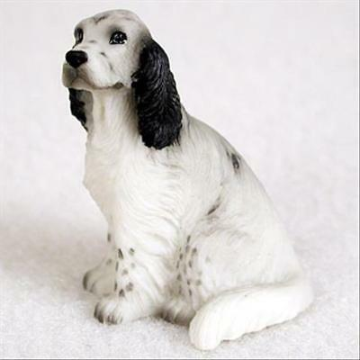English Setter Blue Belton Dog Tiny One Miniature Small Hand Painted Figurine
