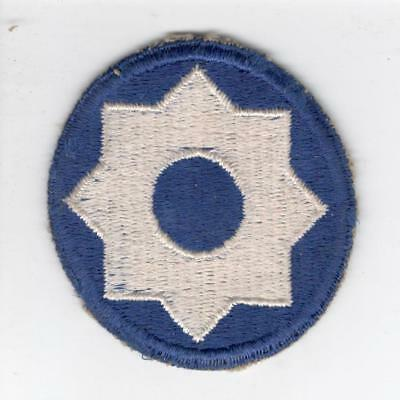 WW 2 US Army 8th Service Command Patch Inv# Y879