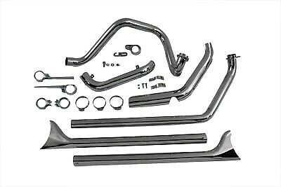True Dual Chrome Exhaust System fits Harley Davidson,V-Twin 29-1192