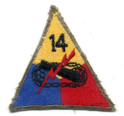 WW 2 US Army 14th Armored Division Patch Inv# B789